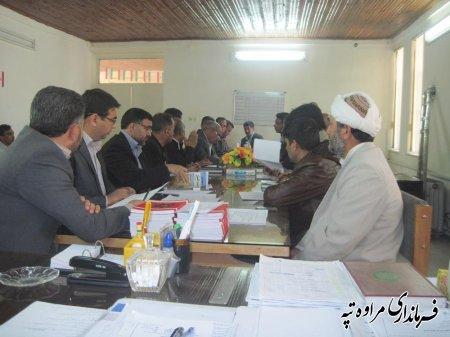 جلسه مبارزه با ملخ مراكشي در محل بخشداري مركزي مراوه تپه برگزار شد