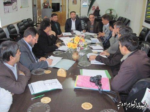 برگزاری جلسه ستاد تسهیلات نوروزی در فرمانداری مراوه تپه