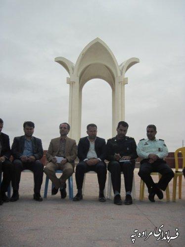 برگزاری جلسه شورای اداری در محل آرامگاه مختومقلی فراغی