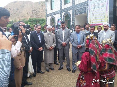 افتتاح متمرکز پروژه های هفته دولت در شهرستان مراوه تپه