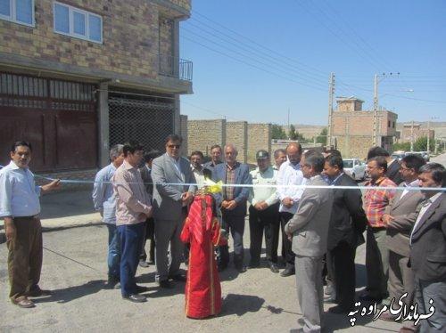 آئین افتتاح متمرکز پروژه های شهرداری مراوه تپه