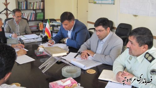 برگزاری جلسه شورای ترافیک در فرمانداری مراوه تپه