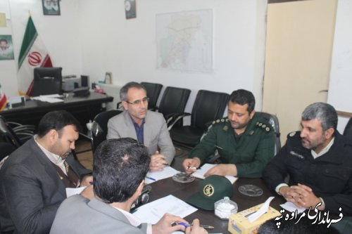 جلسه شورای هماهنگی مدیریت بحران شهرستان مراوه تپه تشکیل شد .