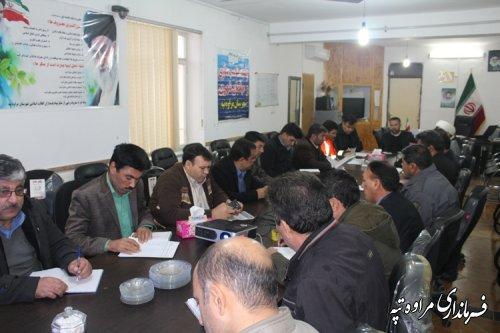 جلسه مناسب سازی محیط و مبلمان شهری در شهرستان مراوه تپه تشکیل شد .