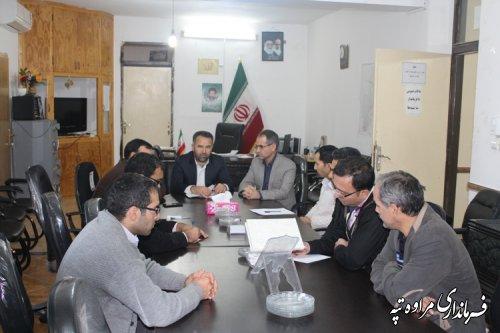 یازدهیمن جلسه ستاد انتخابات شهرستان مراوه تپه تشکیل شد .