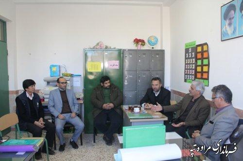 حضور فرماندار در آموزشگاه ابوحنیفه شهر مراوه تپه
