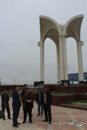 نشست مشترک فرماندار مراوه تپه و رئیس دفتر فنی اداره کل میراث فرهنگی استان گلستان