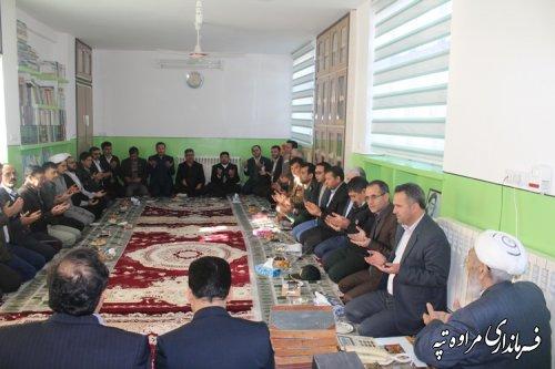 دیدار مسئولین شهرستان مراوه تپه با امام جمعه شهر در اولین روز دهه مبارک فجر