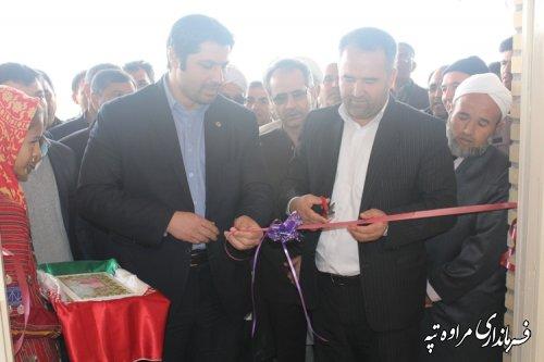 افتتاح سالن ورزشی مختومقلی فراغی روستای قره گل شهرستان مراوه تپه