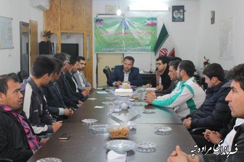 نشست مشترک فرماندار با ورزشکاران و جوانان شهرستان مراوه تپه برگزار شد .