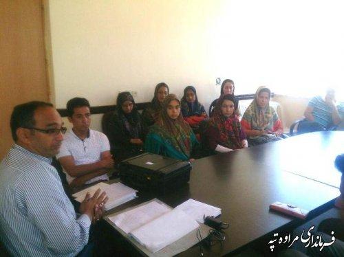 برگزاری کلاس آموزشی کاربران رایانه مرحله دوم انتخابات بخش گلیداغ شهرستان مراوه تپه