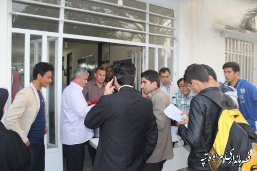 آغاز فرایند تحویل صندوق های اخذ رأی به نمایندگان فرماندار شهرستان مراوه تپه
