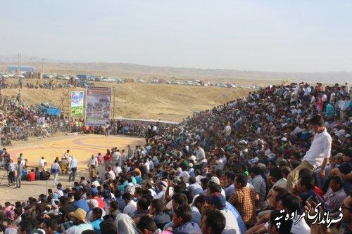 برگزاری بزرگترین رویداد ورزشی شهرستان در آرامگاه مختومقلی فراغی