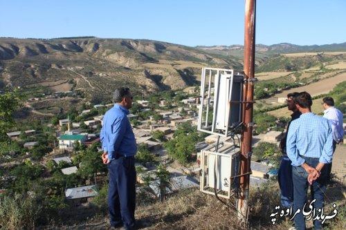 بازدید فرماندار مراوه تپه از روستای آلتی آغاچ بالا