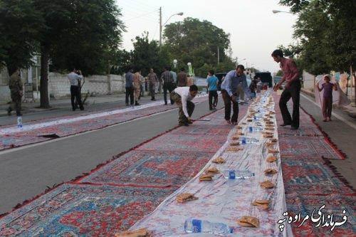 برگزاری مراسم و ضیافت بزرگ افطاری در شهرستان مراوه تپه