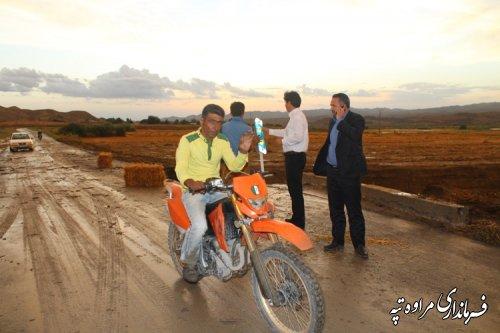 بازدید فرماندار شهرستان مراوه تپه از محور قازانقایه
