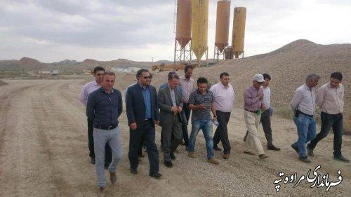 بازدید فرماندار و نماینده مجلس شورای اسلامی از جاده امید شهرستان مراوه تپه
