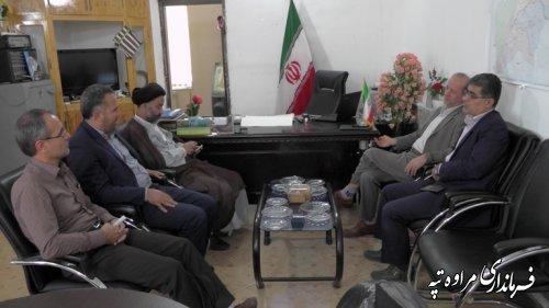 نشست مدیر عامل شرکت آب منطقه ای گلستان با فرماندار شهرستان مراوه تپه