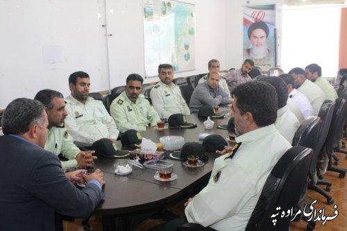 دیدار فرماندهی و پرسنل نیروی انتظامی با فرماندار شهرستان مراوه تپه