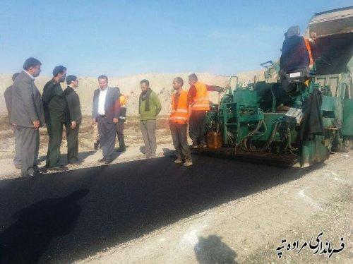 بازدید مدیر کل راهداری و حمل و نقل جاده ای از عملیات روکش آسفالت محور دادلی غزنین
