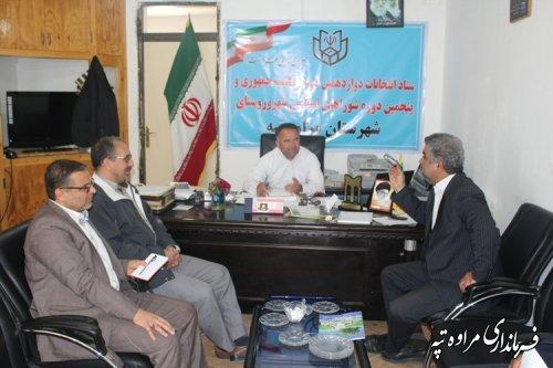 نشست فرماندار مراوه تپه با مدیر کل عشایری استان گلستان