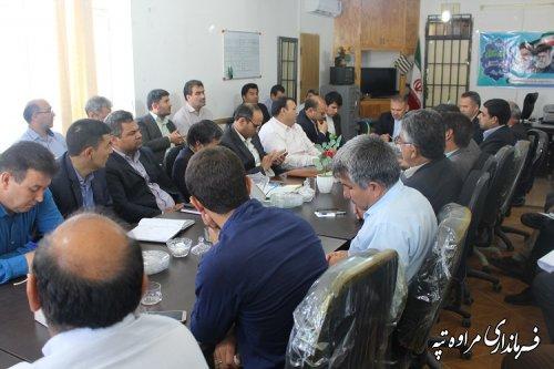 جلسه کمیته برنامه ریزی شهرستان مراوه تپه برگزار شد