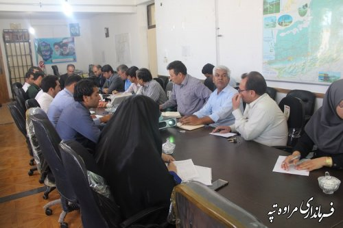کارگروه سلامت و امنیت غذایی شهرستان مراوه تپه برگزار شد