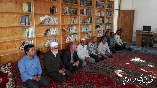 دیدار بخشدار گلیداغ با امام جمعه موقت بخش گلیداغ بمناسبت هفته دولت
