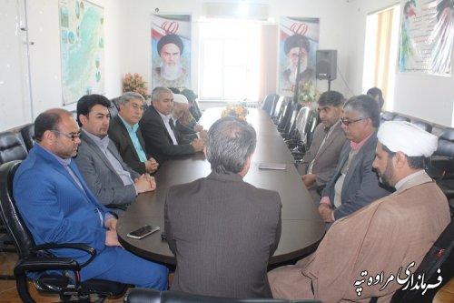 جلسه امحاء صندوق آرای ریاست جمهوری و شورای اسلامی شهر و روستا در محل  فرمانداری برگزار شد.