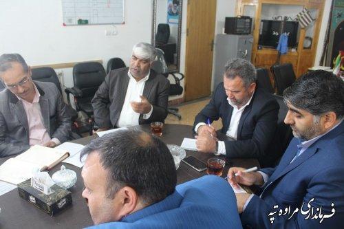 دیدار مدیر کل کمیته امداد امام خمینی استان با فرماندار مراوه تپه و روسای بانک ها