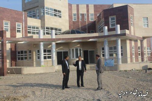 بازدید فرماندار مراوه تپه و رئیس سازمان مدیریت و برنامه ریزی از پروژه های در حال اجرای شهرستان