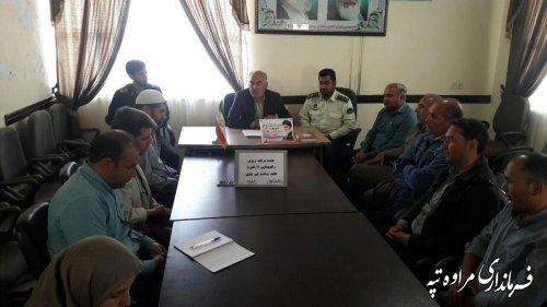 جلسه هماهنگی برگزاری راهپیمایی 13 آبان در بخشداری گلیداغ تشکیل گردید
