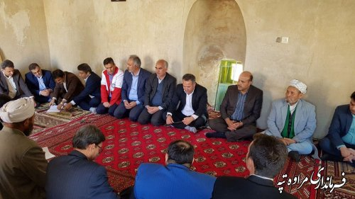 جلسه شورای هماهنگی مدیریت بحران شهرستان مراوه تپه در روستای قرناق برگزار شد