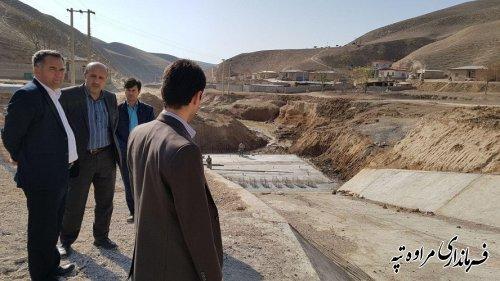 فرماندارمراوه تپه به همراه مدیر کل مدیریت بحران استان از روستای قرناق بازدید کرد