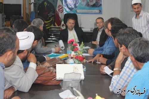 جلسه مشترک فرماندار با شوراها و دهیاران 6 روستای شهرستان مراوه تپه برگزار شد