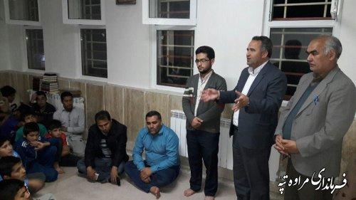 بازدید فرماندار مراوه تپه از مجتمع آموزشی عرب قاری حاجی
