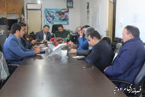 جلسه ستاد هماهنگی کمک به آسیب دیدگان زلزله غرب کشور در محل فرمانداری تشکیل گردید