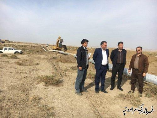 آغاز عملیات اجرایی بزرگترین پروژه گازرسانی استان در مراوه تپه