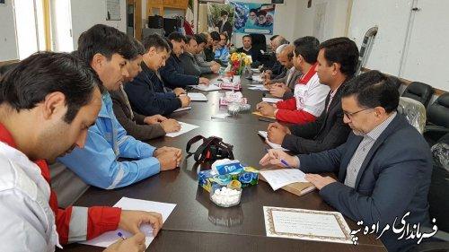 فرماندار مراوه تپه در جلسه ستاد بحران شهرستان : اعضای ستاد آمادگی لازم را در برابر حوادث احتمالی داشته باشند.