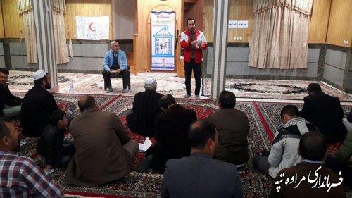 جلسه اموزشی و توجیهی دهیاران و شوراهای اسلامی بخش دهستان شلمی بخش گلیداغ  به مناسبت 5 دی روز ایمنی در برابر زلزله برگزار شد.