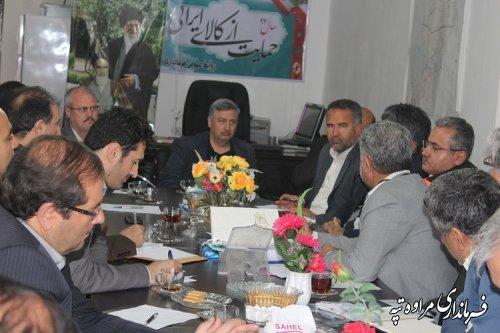 سومین جلسه مشترک مدیران ارشد استان گلستان و خراسان شمالی درفرمانداری مراوه تپه برگزار شد