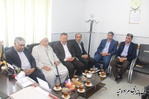 نشست فرماندار شهرستان مراوه تپه با مدیر کل کمیته امداد استان گلستان