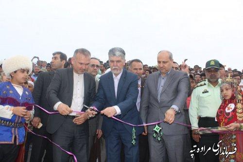 سالن روباز دولت محمد آزادی در جوار آرامگاه مختومقلی فراغی افتتاح و به بهره برداری رسید