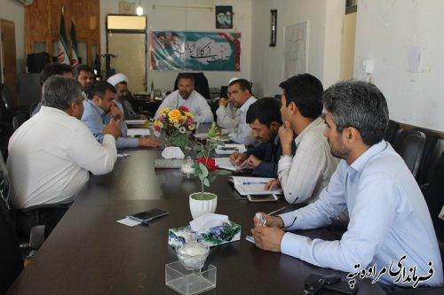 سومین جلسه شورای فرهنگ عمومی در محل دفتر فرماندار مراوه تپه برگزار شد