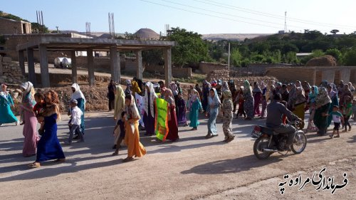 همایش پیاده روی بمناسبت هفته مبارزه با مواد مخدر در روستای یانبلاق برگزار شد