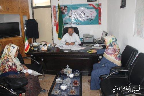 ملاقات عمومی فرماندار شهرستان مراوه تپه  برگزار شد