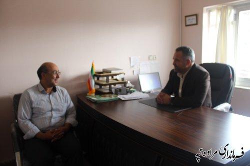 بازدید سرزده تاجی فرماندار مراوه تپه از اداره ثبت اسناد و املاک مراوه تپه