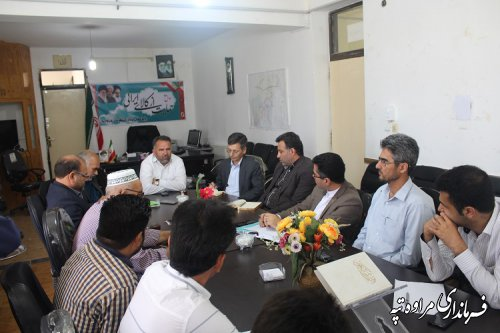 جلسه برنامه ریزی توسعه اقتصادی و اشتغالزایی روستایی برگزار شد