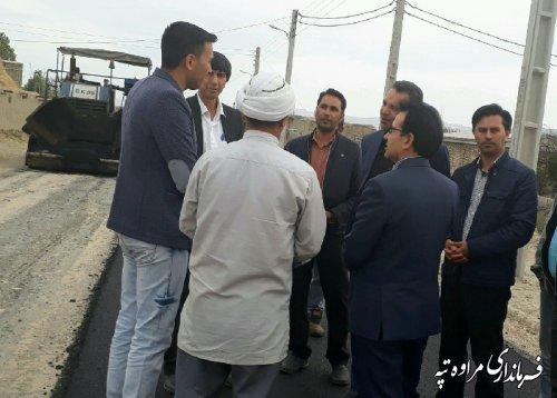 بازدید فرماندار مراوه تپه از عملیات اجرایی پروژه های عمرانی روستای شیخلر