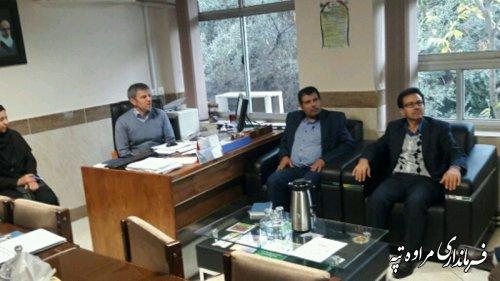نشست فرماندار مراوه تپه با معاون ابخیز داری اداره کل منابع طبیعی گلستان